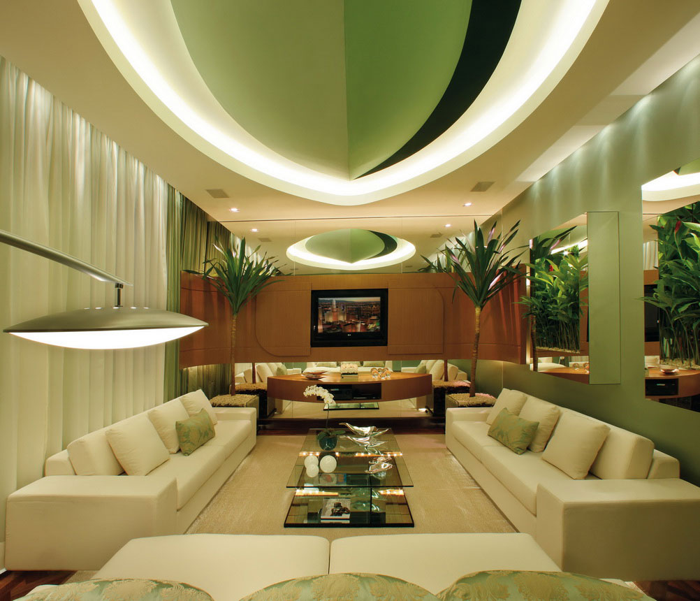 Green Living Room: 15 Interior Design Ideas